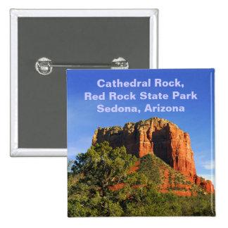 Roca de la catedral, Arizona Pin Cuadrado