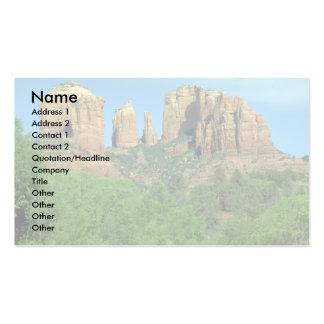 Roca de la catedral cerca de Sedona, Arizona Tarjetas Personales