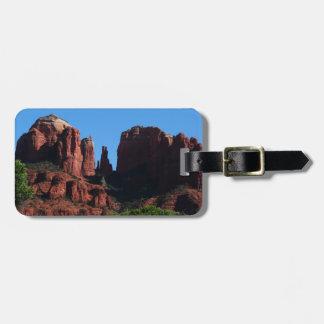 Roca de la catedral en Sedona Arizona Etiquetas Para Maletas