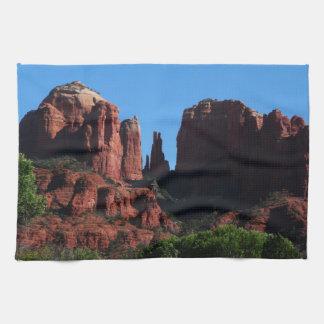 Roca de la catedral en Sedona Arizona Toallas
