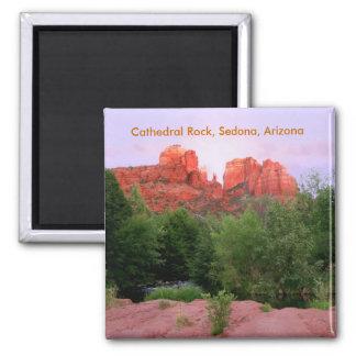 Roca de la catedral, Sedona, Arizona Imán Cuadrado