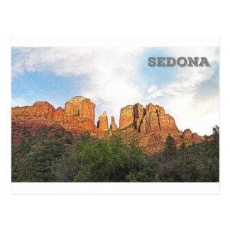 Roca de la catedral - Sedona, AZ Postales