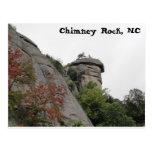 Roca de la chimenea, NC Tarjeta Postal