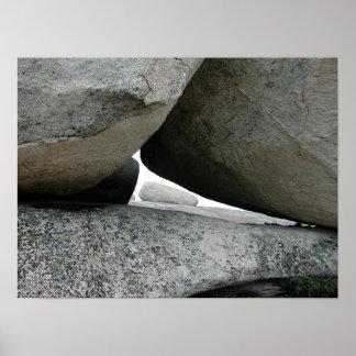 Roca de la cuña en la roca calva impresiones