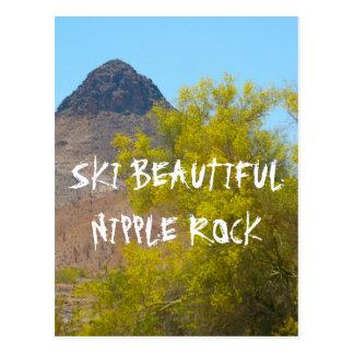 Roca de la entrerrosca del esquí tarjeta postal