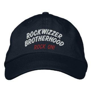 Roca de la fraternidad de Rockwizzer en el gorra 1 Gorra Bordada