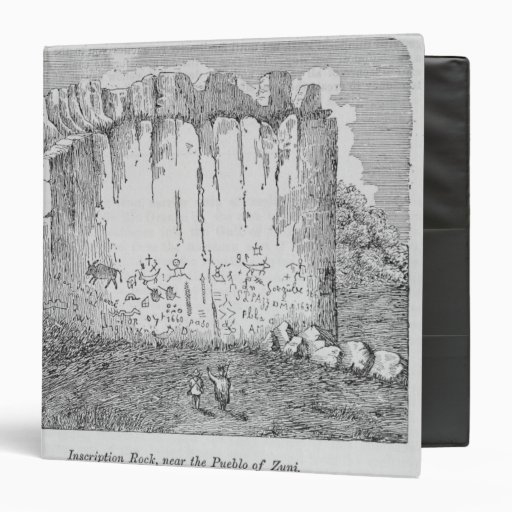 Roca de la inscripción, cerca del pueblo de Zuni