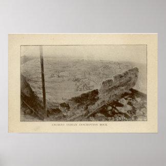 Roca de la inscripción - poster de la isla de Kell