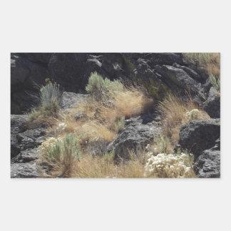 Roca de la lava pegatina rectangular
