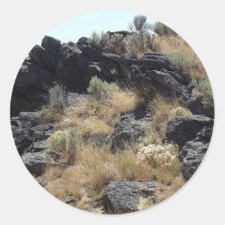 Roca de la lava pegatina redonda
