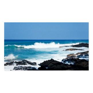 Roca de la lava y océano hawaianos del coral - Haw Tarjeta De Visita