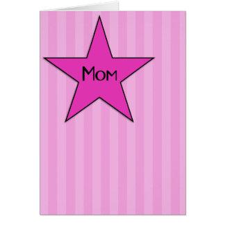 ¡Roca de la mamá U! Tarjeta del día de madre
