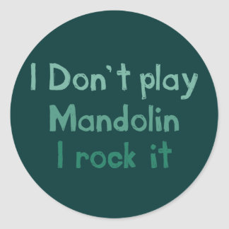 Roca de la mandolina él pegatinas