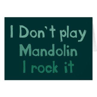 Roca de la mandolina él tarjeta de felicitación