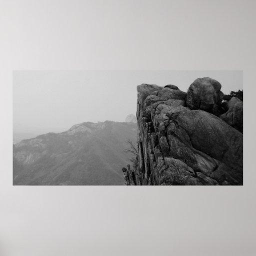Roca de la montaña - impresión impresiones