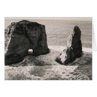 Roca de la paloma tarjeta de felicitación