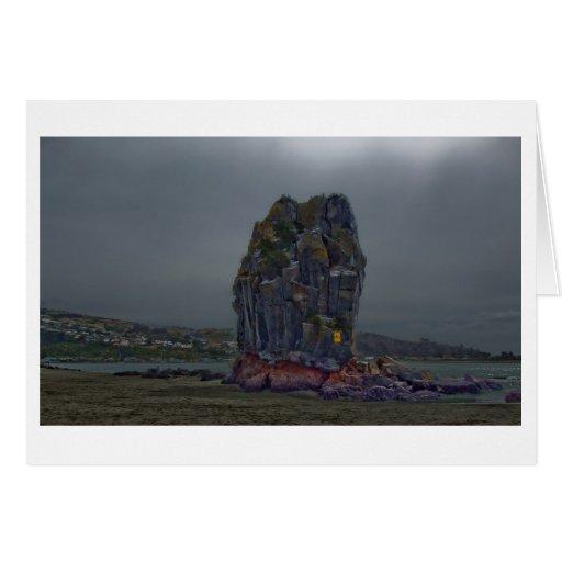 Roca de la pelusa, Sumner, Christchurch, Nueva Tarjeta De Felicitación