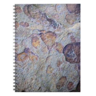 Roca de la piedra del mineral de hierro notebook