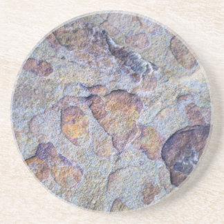 Roca de la piedra del mineral de hierro posavasos manualidades
