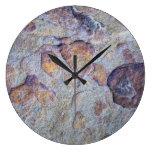 Roca de la piedra del mineral de hierro relojes de pared
