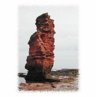 Roca de la pila del mar Bahía de Ladram Devon R Escultura Fotográfica