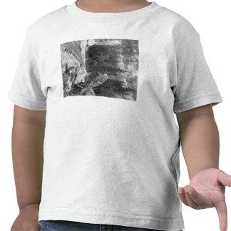 Roca de la señal cerca de la fotografía de la pist camiseta