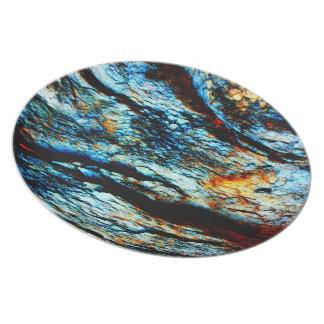 Roca de la turquesa plato de cena