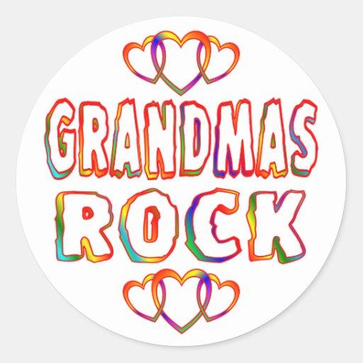 Roca de las abuelas etiquetas