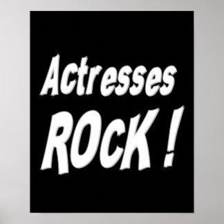 ¡Roca de las actrices Impresión del poster