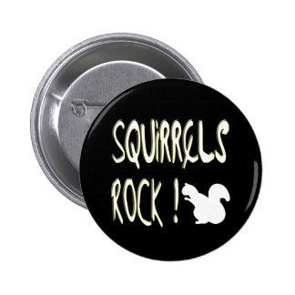 ¡Roca de las ardillas! Botón Pin Redondo De 2 Pulgadas