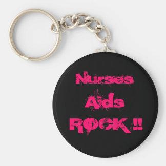 ROCA de las ayudas de las enfermeras Llaveros