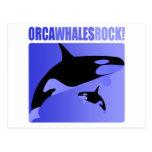¡Roca de las ballenas de la orca! Postal