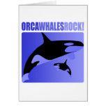 ¡Roca de las ballenas de la orca! Tarjetas