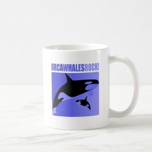 ¡Roca de las ballenas de la orca! Taza