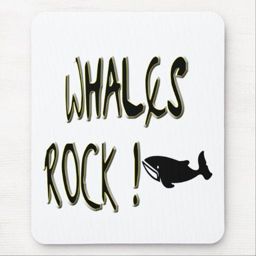 ¡Roca de las ballenas! Mousepad Tapete De Ratón