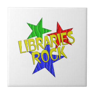Roca de las bibliotecas azulejo cuadrado pequeño