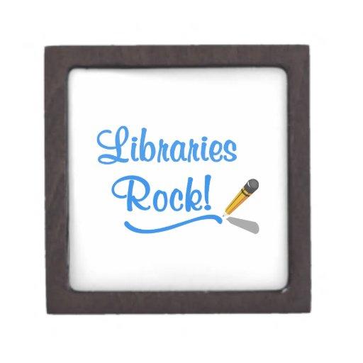 ¡Roca de las bibliotecas! Caja De Joyas De Calidad
