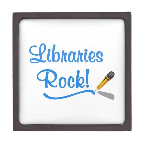 ¡Roca de las bibliotecas! Cajas De Joyas De Calidad