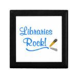 ¡Roca de las bibliotecas! Caja De Regalo