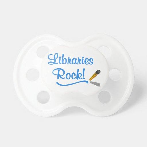 ¡Roca de las bibliotecas! Chupete De Bebe