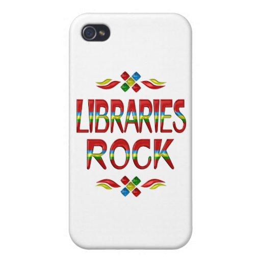 Roca de las bibliotecas iPhone 4/4S carcasa