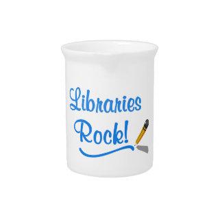 ¡Roca de las bibliotecas! Jarras