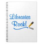 ¡Roca de las bibliotecas! Libreta Espiral