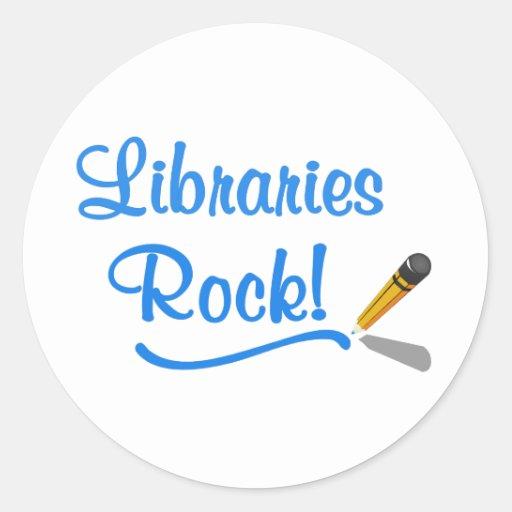 ¡Roca de las bibliotecas! Pegatinas