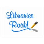 ¡Roca de las bibliotecas! Postal