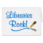 ¡Roca de las bibliotecas! Tarjetas
