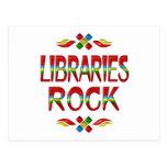 Roca de las bibliotecas tarjetas postales