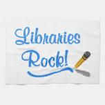 ¡Roca de las bibliotecas! Toallas De Cocina