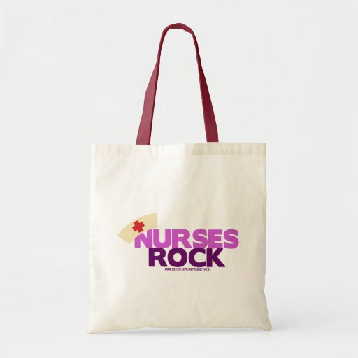 Roca de las enfermeras bolsas de mano