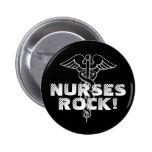 ¡Roca de las enfermeras! Botón de Pinback para los Pin